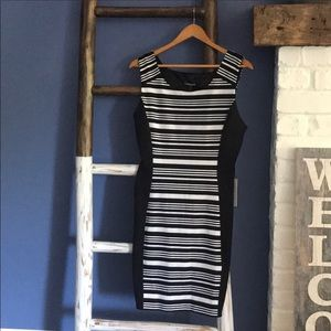 Express Striped Color Block Dress